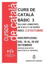 Cartell curs de català