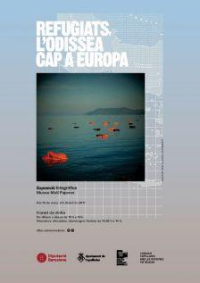 """Cartell exposició """"Refugiats, l'odissea cap a Europa"""""""