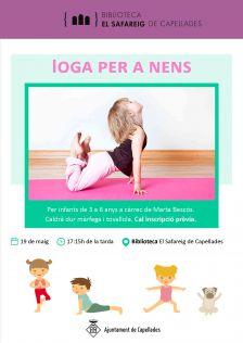 Cartell ioga per a nens