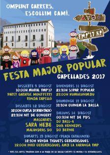 Programa Festa Major Popular