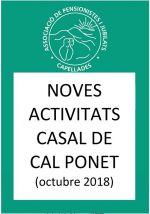 Activitats Cal Ponet