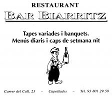 Logotip restaurant-bar Biarriz